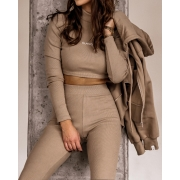 BLUZA BASIC LOOK BEŻ