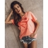 BLUZKA T-SHIRT SUPER GIRL NEON ORANGE