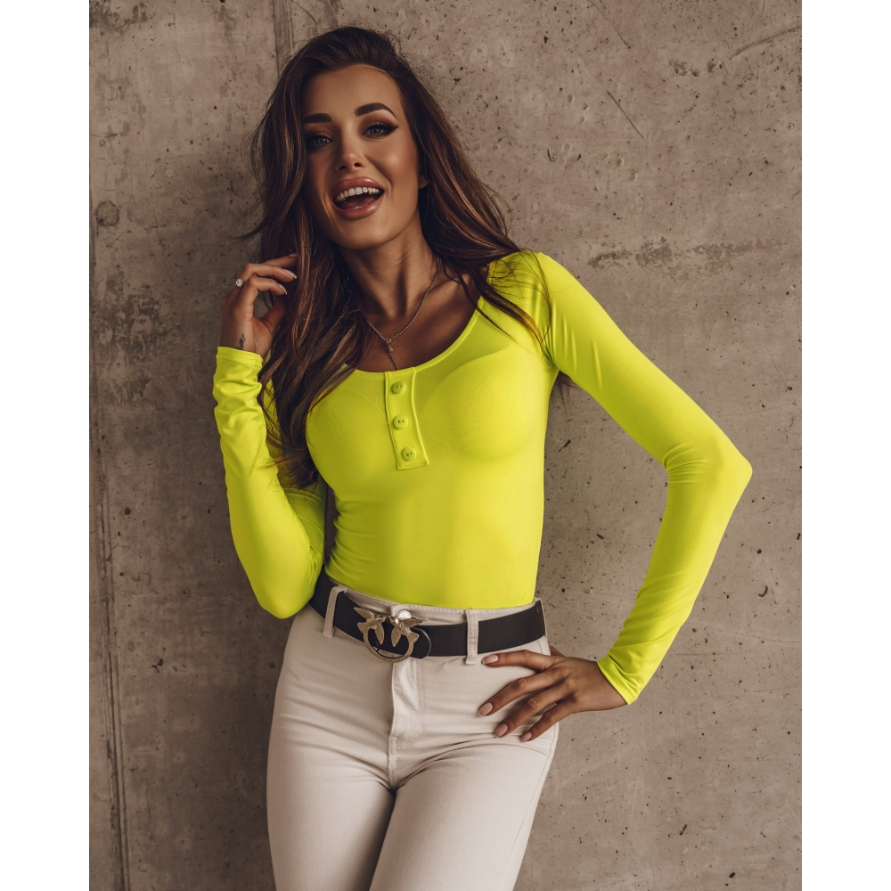 BODY 3 BUTTONS NEON LIME