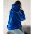BLUZA DECOR ZIPPER BLUE