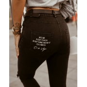 SPODNIE SKINNY HIGH JEANS BLACK