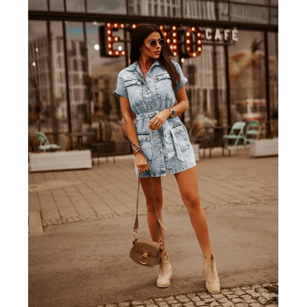 SUKIENKA DENIM BLUE
