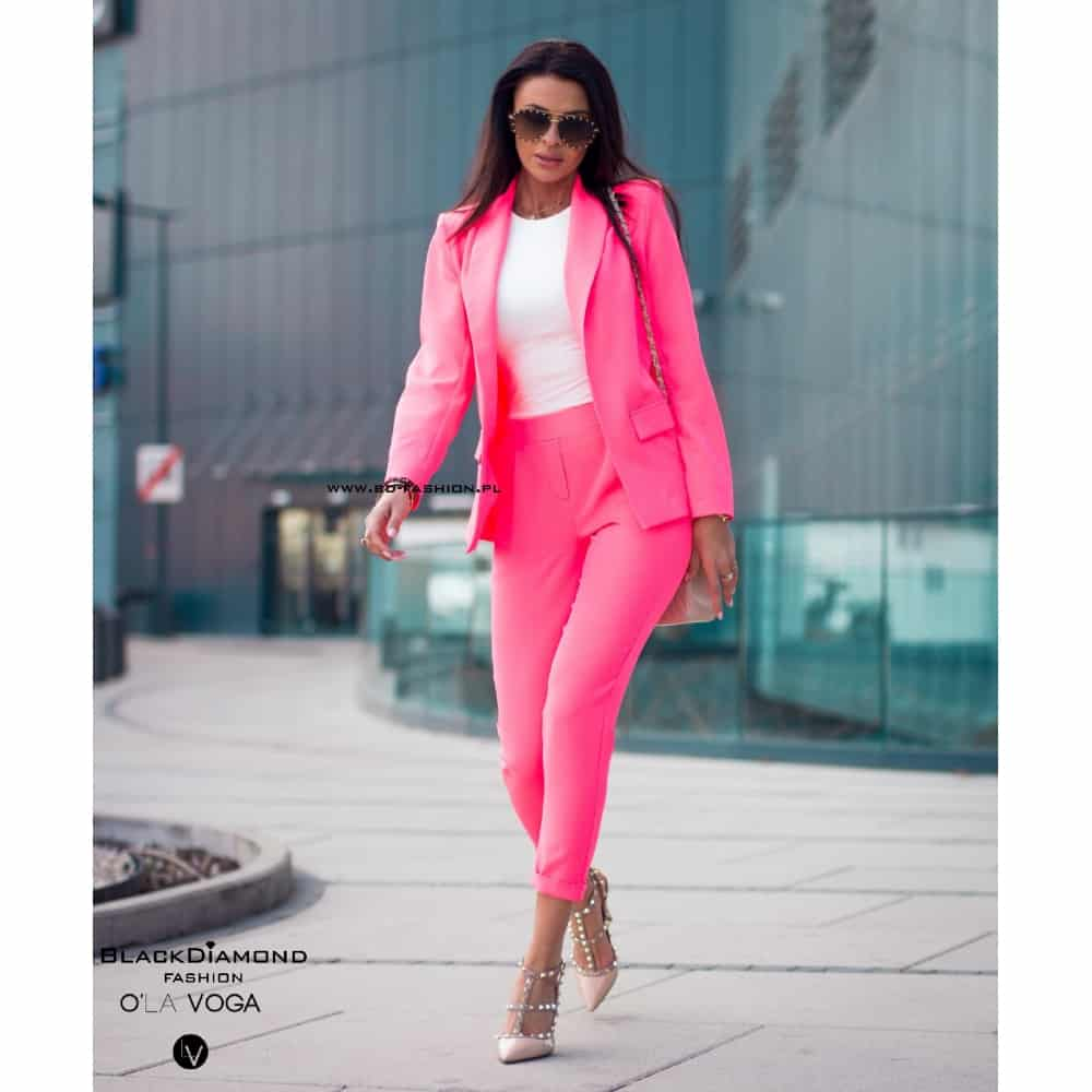 GARNITUR CLASSIC STYLE CASUALL SPRING NEON PINK