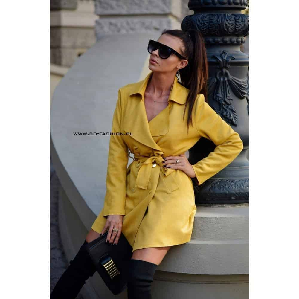 PŁASZCZ TRENCH COAT LONDON MUSTARD